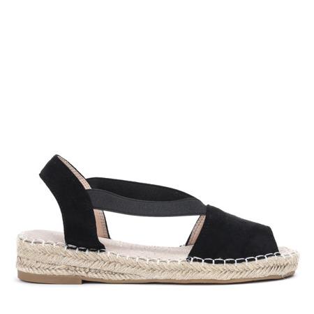 Czarne sandały a'la espadryle na platformie Motilla - Obuwie