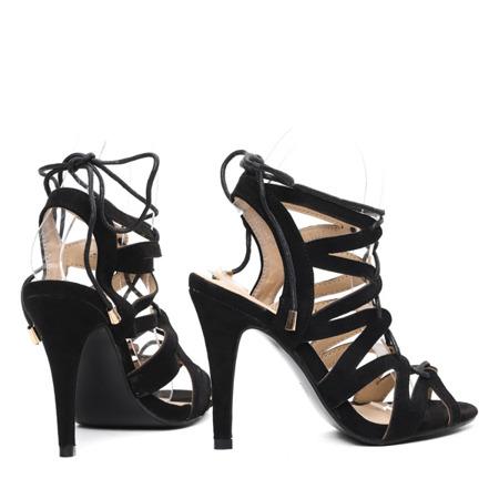 Czarne sandały na szpilce Jaylene- Obuwie