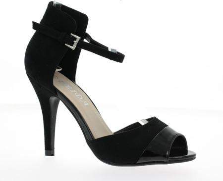 Czarne sandały na szpilce Missenah - Obuwie