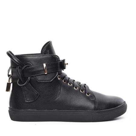 Czarne sneakersy z klamerką Freedom - Obuwie