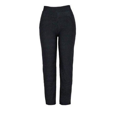 Czarne spodnie damskie z elastycznego materiału - Spodnie