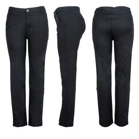Czarne spodnie materiałowe - Spodnie