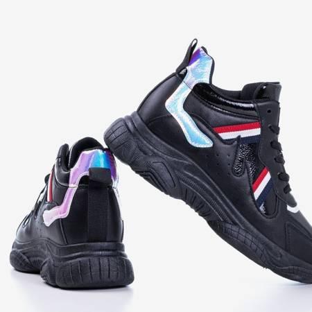 Czarne sportowe buty z holograficznymy wstawkami Lioka - Obuwie