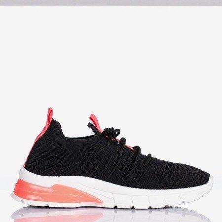 Czarne sportowe buty z neonowymi różowymi wstawkami Brighton - Obuwie