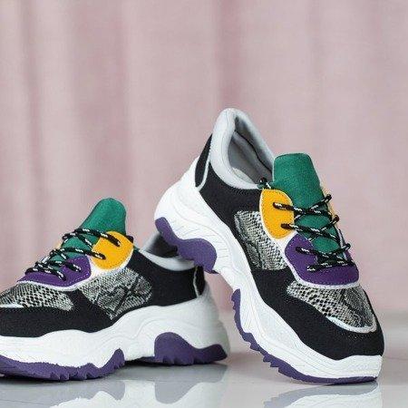 Czarne ugly shoes na grubej podeszwie Dori - Obuwie