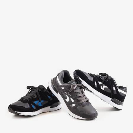 Czarno-niebieskie męskie sportowe buty Huwo - obuwie