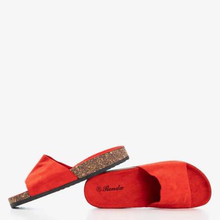 Czerwone damskie klapki Ratia - Obuwie