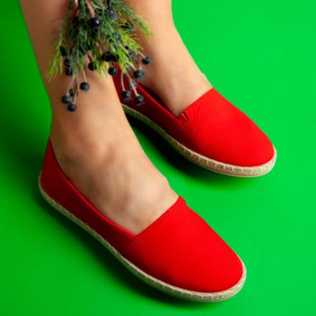 Czerwone espadryle Walencia - Obuwie