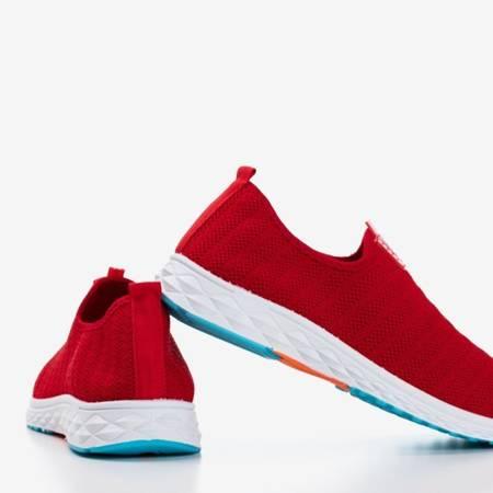 Czerwone męskie sportowe buty slip - on Telfer- Obuwie