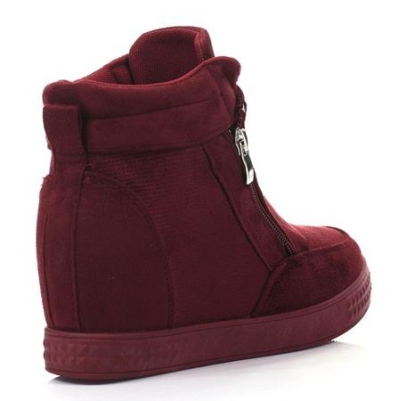 Czerwone sneakersy na koturnie Velicienta - Obuwie