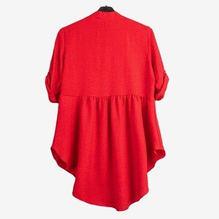 Damska tunika w kolorze czerwonym - Odzież