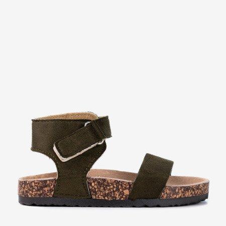 Dziecięce ciemnozielone sandały Blemile - Obuwie