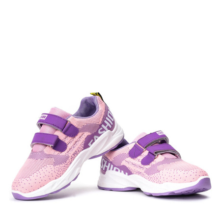 Dziecięce fioletowe buty na rzepy Oniferi - Obuwie