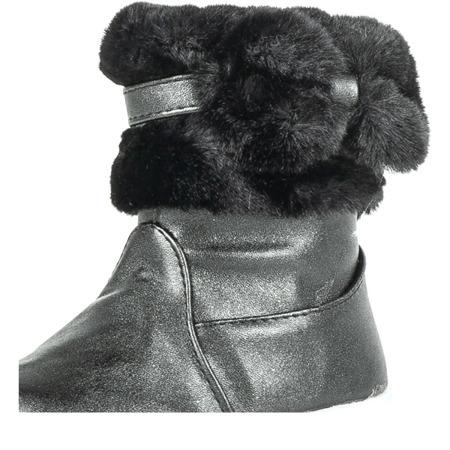 Dziewczęce czarne połyskujące śniegowce Funni - Obuwie
