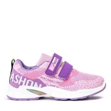 Dziewczęce różowe buty na rzepy Oniferi - Obuwie