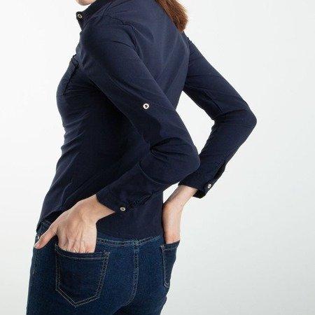 Granatowa koszula damska - Bluzki