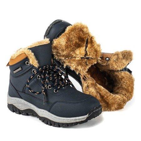 Granatowe chłopięce zimowe buty Dang - Obuwie