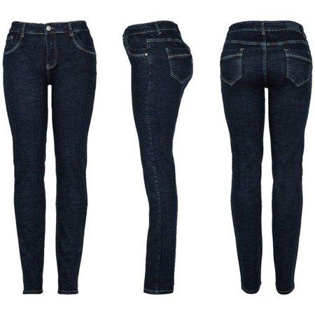 Granatowe damskie spodnie - Spodnie