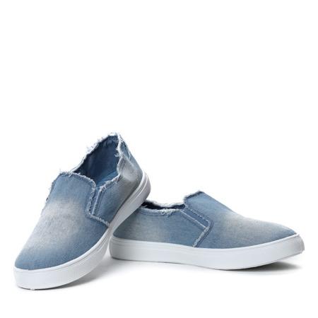 Jasnoniebieskie jeansowe tenisówki slip on Aaron- Obuwie