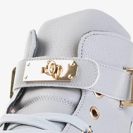 Jasnoszare sneakersy ze złotymi ozdobami Harli - Obuwie