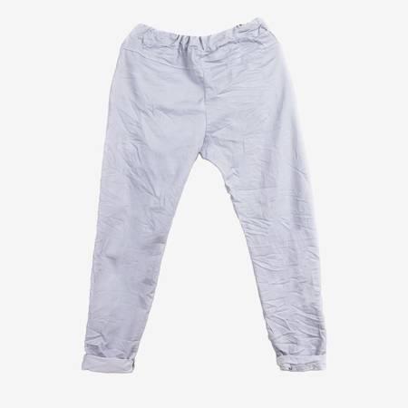 Jasnoszare spodnie damskie w sportowym stylu - Odzież