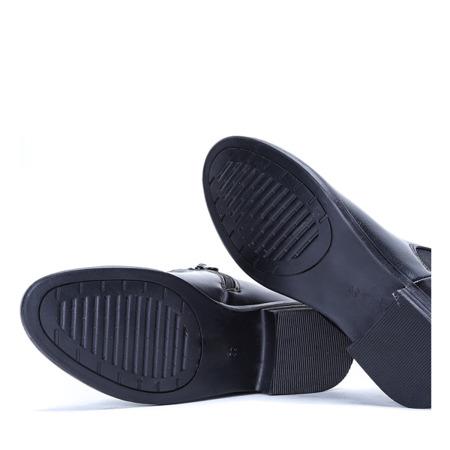 Klasyczne sztyblety w kolorze czarnym Elaine - Obuwie