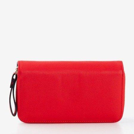 Mały klasyczny ciemno-bordowy portfel - Portfel