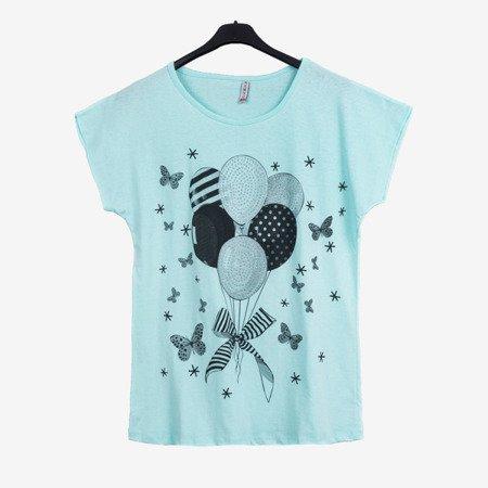 Miętowa koszulka z krótkim rękawem - Odzież