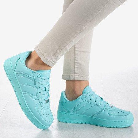 Miętowe niskie buty sportowe na platformie Dancer - Obuwie