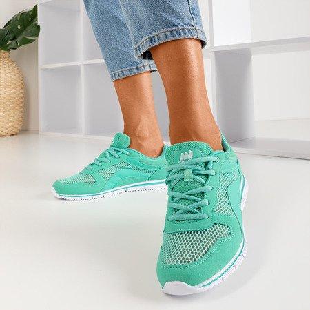 Miętowe sportowe buty damskie Kannasi - Obuwie