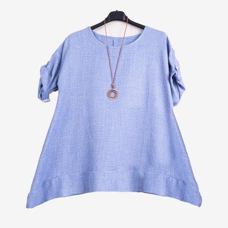 Niebieska tunika damska - Odzież