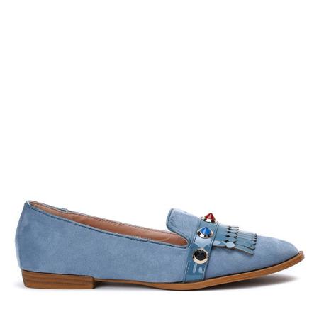 Niebieskie mokasyny ze zdobieniem Karmanellia - Obuwie