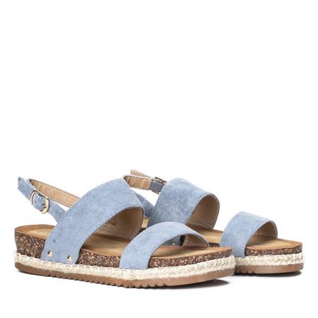 Niebieskie sandały na niskiej platformie Movisa - Obuwie