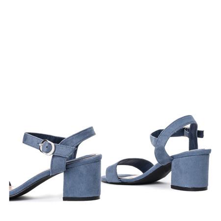 Niebieskie sandały na słupku Sula - Obuwie