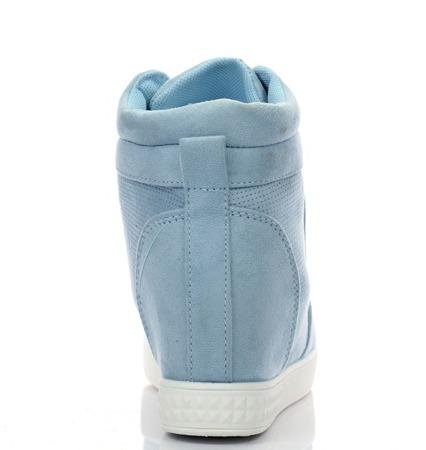 Niebieskie sneakersy na koturnie Velicienta - Obuwie