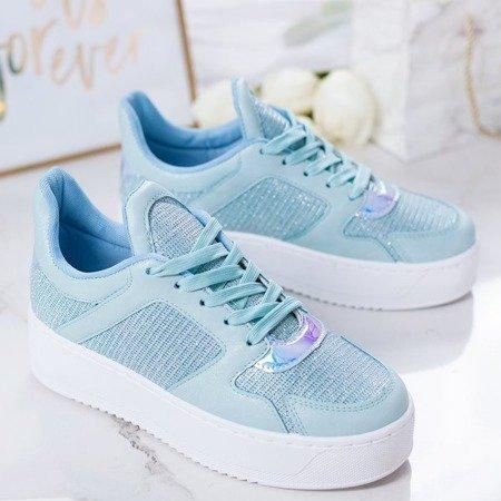 Niebieskie sportowe buty na platformie Salsa - Obuwie