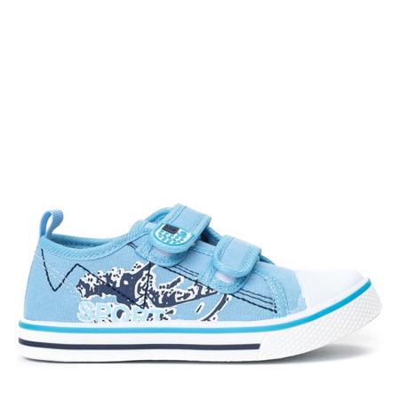 Niebieskie sportowe chłopięce buty Norn - Obuwie
