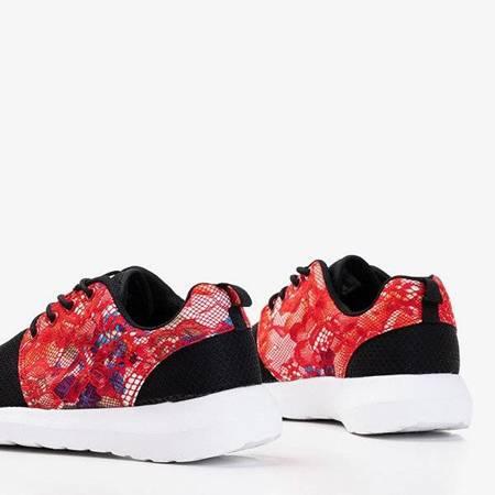 OUTLET Czarne damskie koronkowe buty sportowe Denika - Obuwie