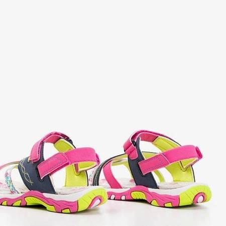 OUTLET Granatowo-różowe dziewczęce sandały Esteban - Obuwie