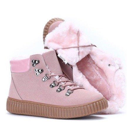 OUTLET Różowe buty sportowe ocieplane Daniella - Obuwie