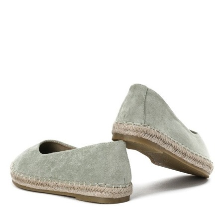 OUTLET Zielone espadryle Mellow - Obuwie
