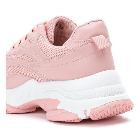 Różowe buty sportowe na grubej podeszwie Alabama - Obuwie