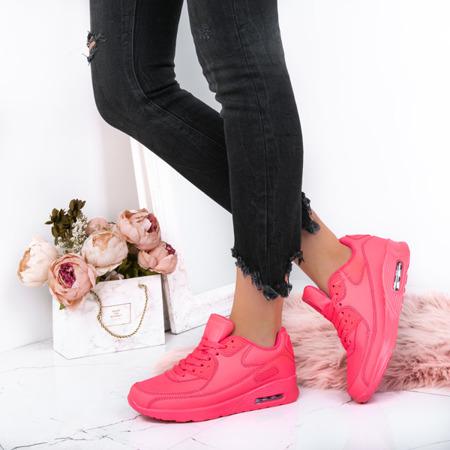 Różowe neonowe buty sportowe Danny - Obuwie