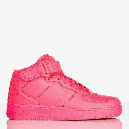 Różowe neonowe wysokie buty sportowe na platformie Tiny Dancer - Obuwie