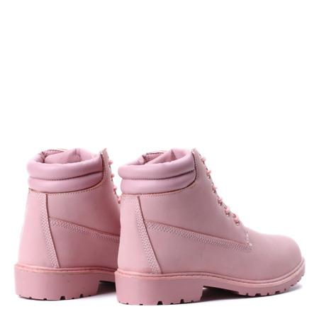 Różowe ocieplane trapery Pinki - Obuwie