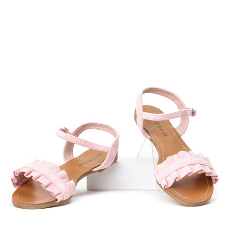 Różowe sandały na płaskiej podeszwie Tilda - obuwie