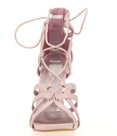 Różowe sandały na szpilce Nulia - Obuwie