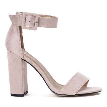 Różowe sandały na wysokim słupku Rosalina - Obuwie