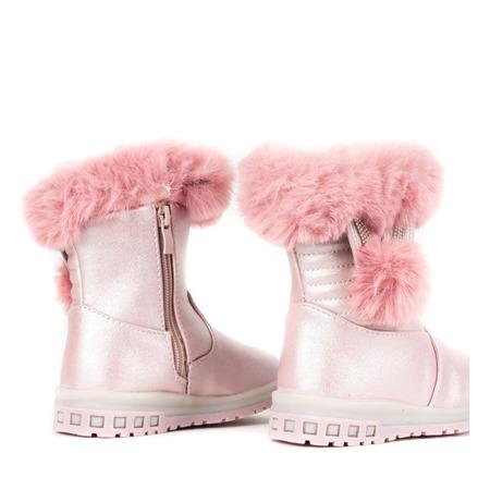 Różowe śniegowce dziewczęce Snowdrop - Obuwie