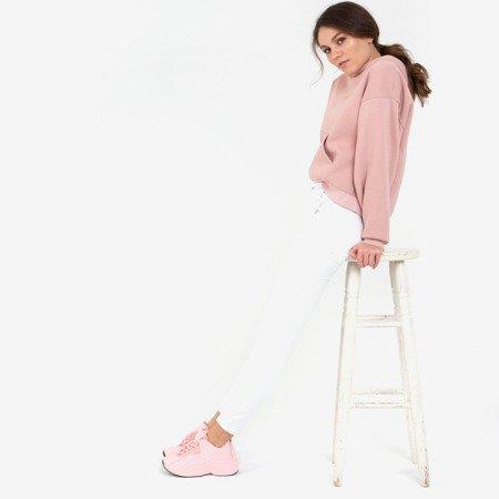Różowe sportowe buty na grubej podeszwie Pamela - Obuwie